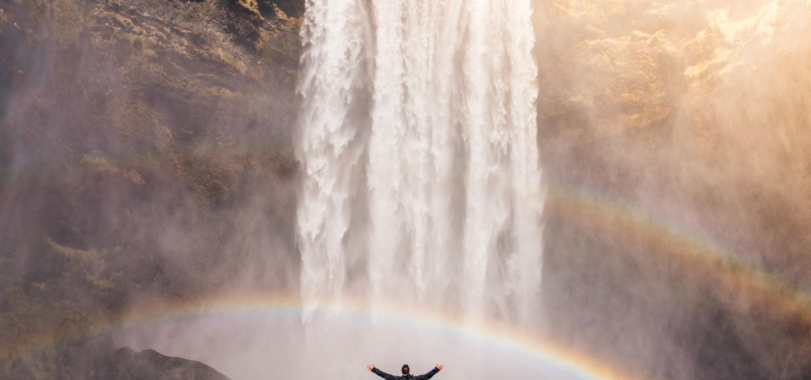 natuur regenboog hoop krachtig mensisme menselijk